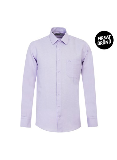 Kiğılı Klasik Gömlek Lila